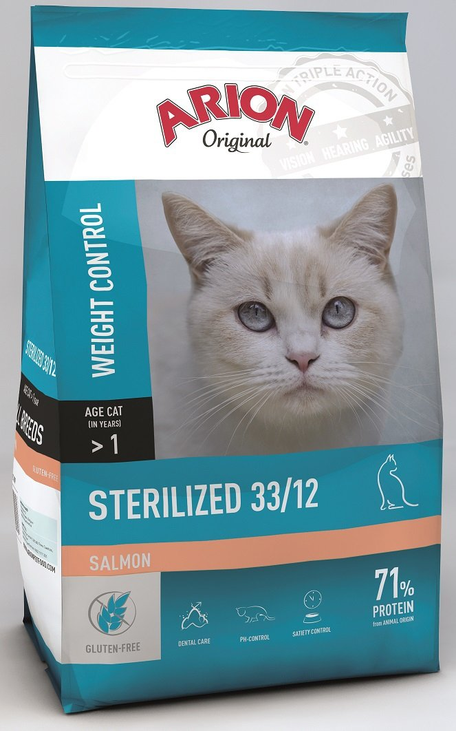 Arion Original Cat Sterilized 33/12 Salmon 7,5kg