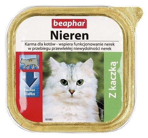 Beaphar Nieren Z kaczką dla kotów z niewydolnością nerek 100g