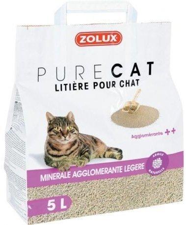 Zolux Pure Cat - Żwirek mineralny dla kota - zbrylający i lekki 5l x 4 szt