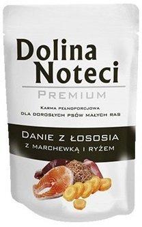 Dolina Noteci Premium Dla małych ras Danie z łososia z marchewką i ryżem 12x100g