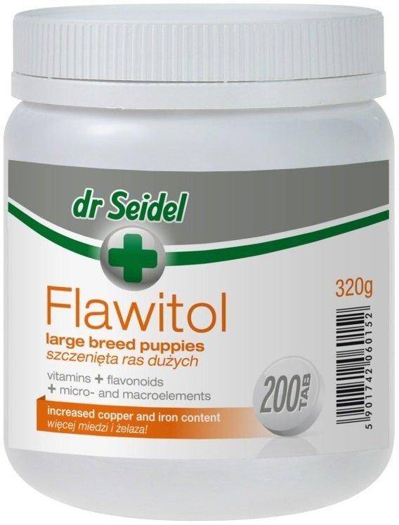 Dr Seidel Flawitol dla szczeniąt dużych ras 200 tab.