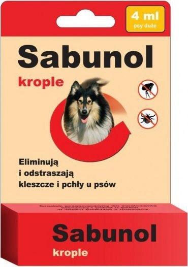 Sabunol Krople przeciw pchłom i kleszczom 4ml