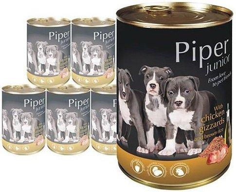 Piper Junior z żołądkami kurczaka i ryżem 24x400g