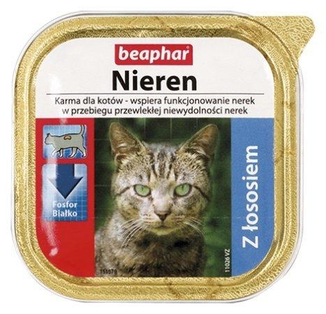 Beaphar Nieren Z łososiem dla kotów z niewydolnością nerek 100g