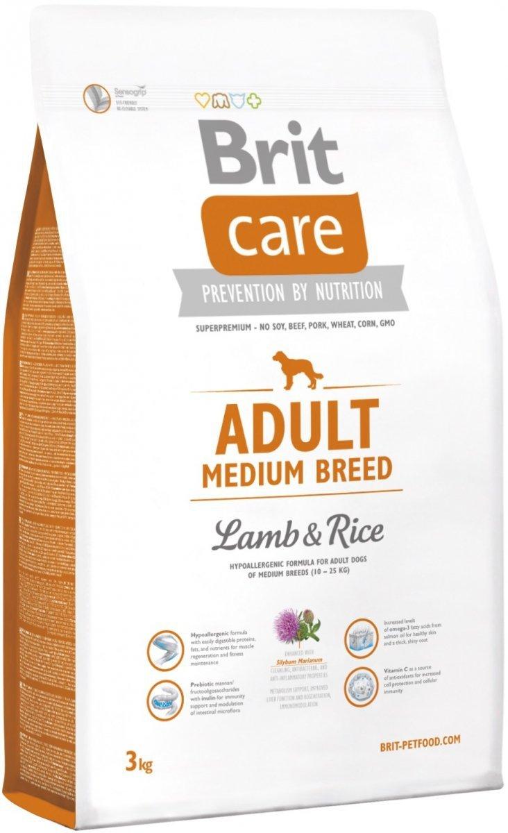 Brit Care N Adult Medium Breed Lamb & Rice 3kg