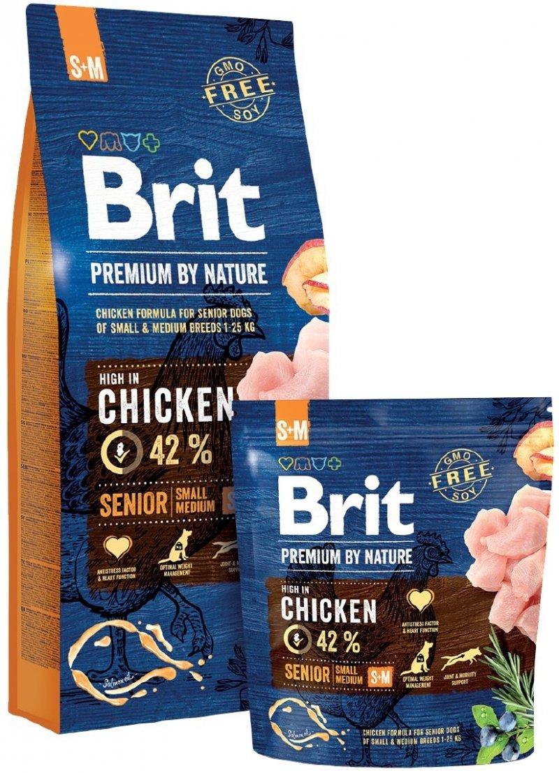 Brit Premium By Nature Small & Medium Senior 1kg
