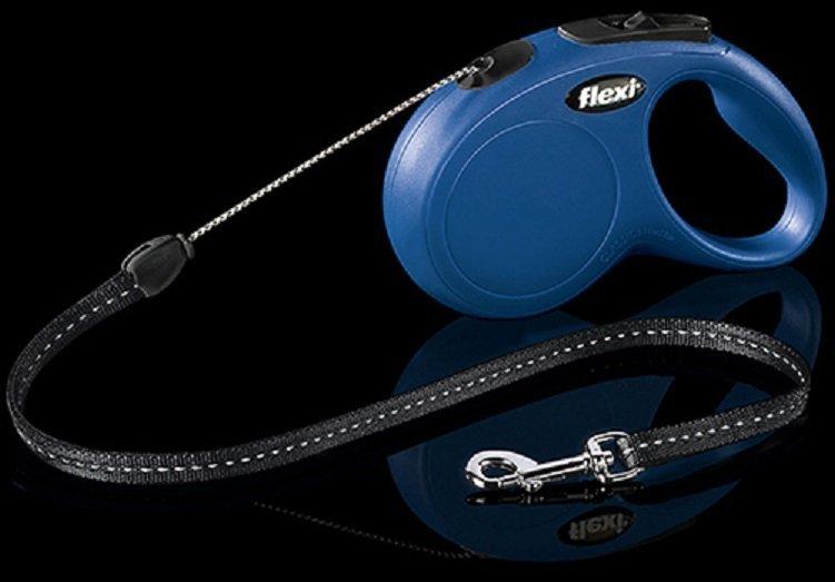 Flexi New Classic linka S 8m niebieska - smycz automatyczna