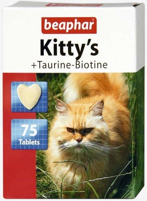 Beaphar Kitty's Taurine-Biotine - przysmak dla kotów z dodatkiem tauryny i biotyny 75tab