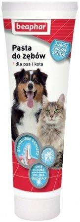 Beaphar Pasta do mycia zębów dla psa i kota o smaku mięsa 100g
