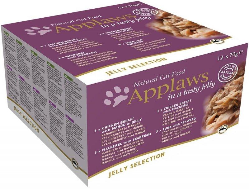 Applaws Multipack dla kota w galaretce - puszki 12x70g