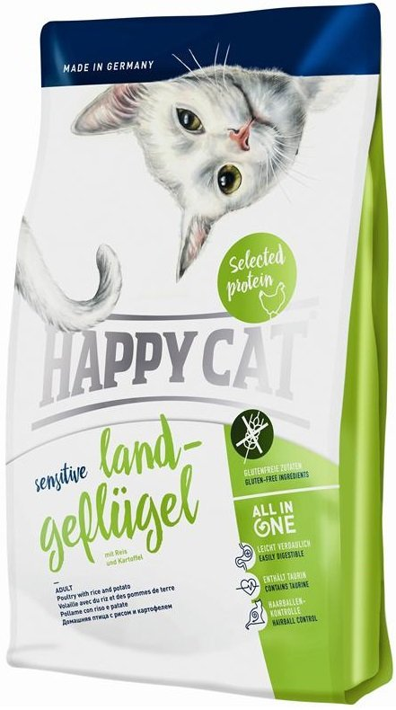 Happy Cat Sensitive Land-Geflugel - Drób organiczny 4kg