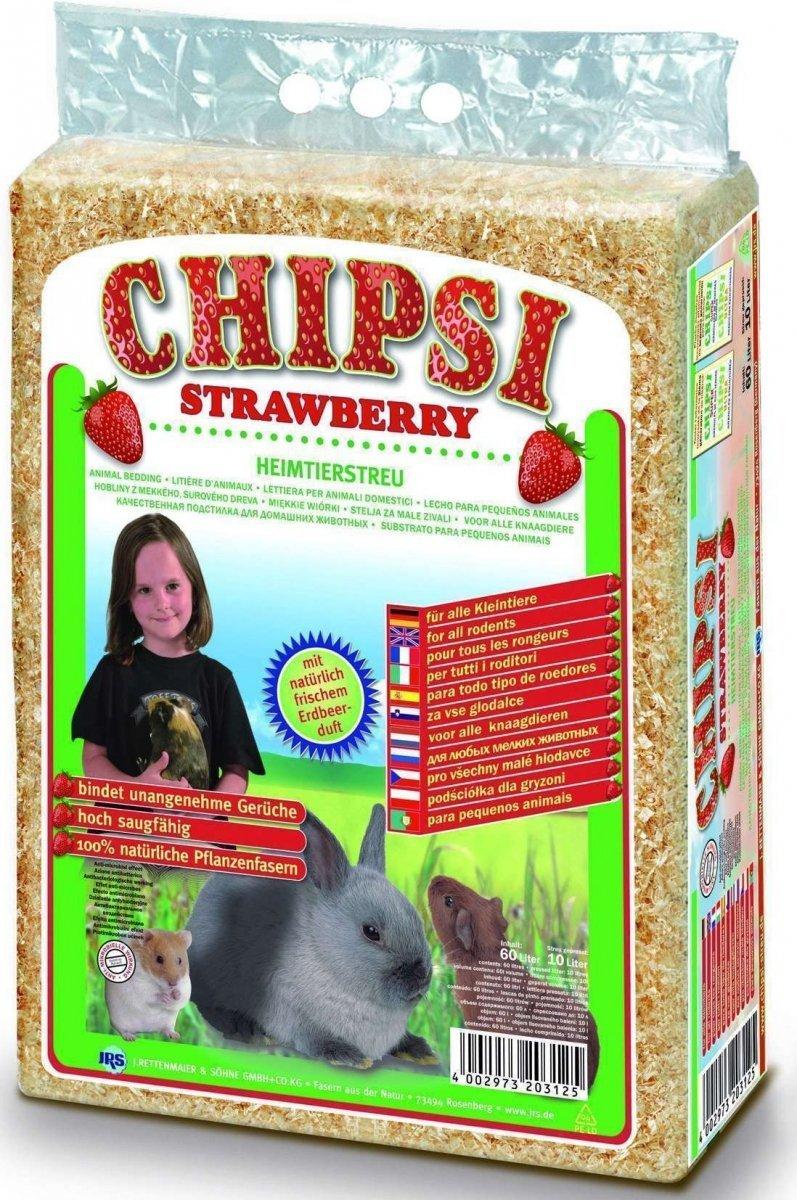 Chipsi Strawberry - trociny truskawkowe 60l
