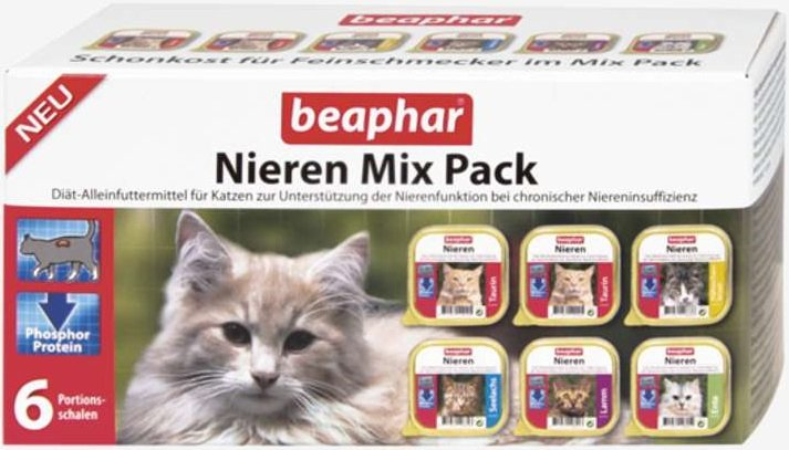 Beaphar Nieren Mix Pack dla kotów z niewydolnością nerek 6x100g