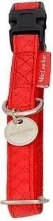 Obroza regulowana Mac Leather 15mm czerwona