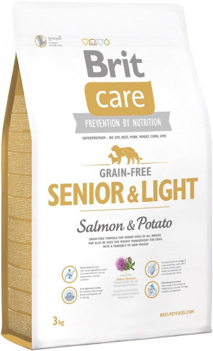 Brit Care Grain Free Senior & Light Salmon 35% & Potato - karma bezzbożowa 3kg