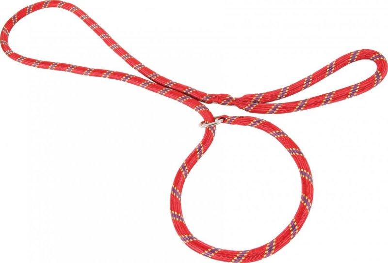 Zolux Smycz nylonowa z obrożą - czerwona - sznur lasso 1,8m