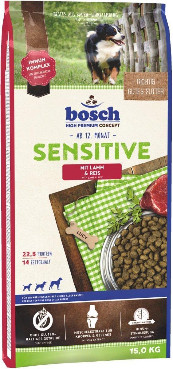 Bosch Sensitive Jagnięcina z ryżem 15kg