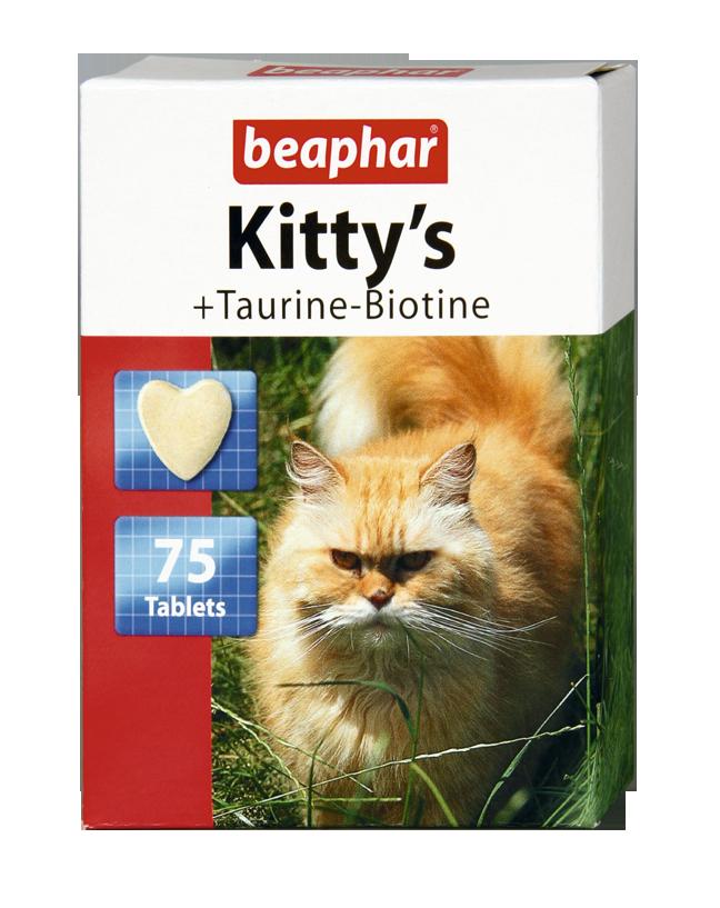 Beaphar Kitty's Taurine-Biotine - przysmak dla kotów z dodatkiem tauryny i biotyny 180tab
