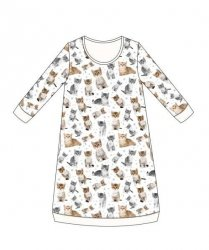 Koszula Cornette Kids Girl 942/105 Lovely Cats 4 dł/r 86-128