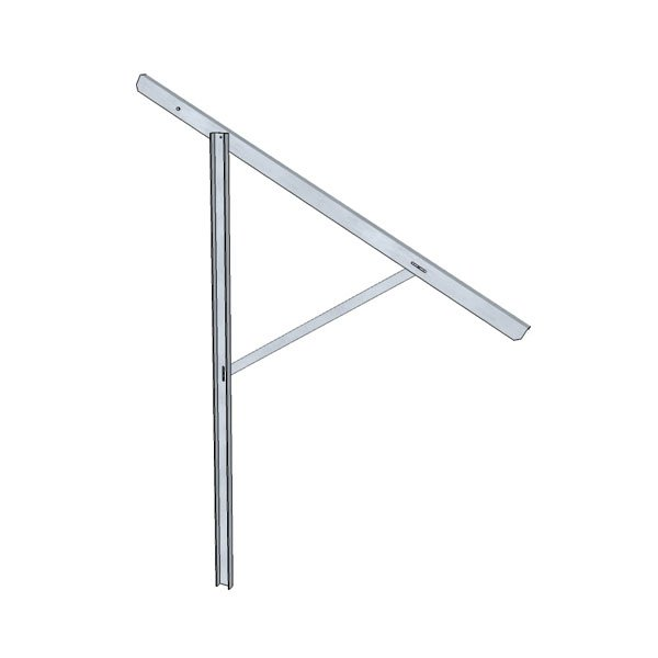 Podpora regulowana do konstrukcji wolnostojacej z jednym ramieniem