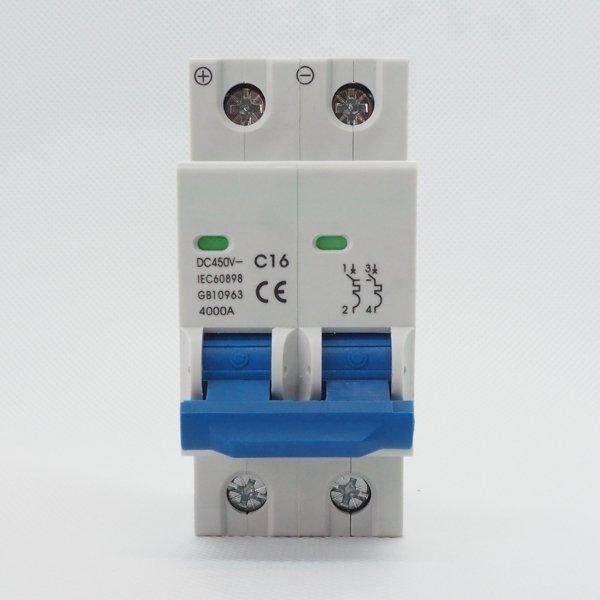 Wyłącznik nadprądowy 2P C 16A 4kA 450V DC