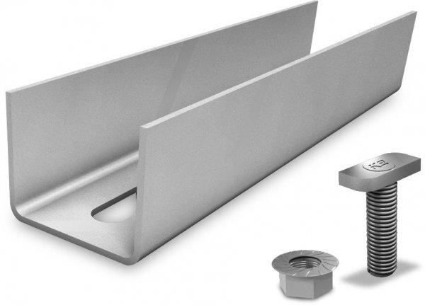 K2 zestawy zlaczy do polaczenia dwóch szyn aluminiowych Ultra and Light (w tym 2 sruby z nakretakmi)