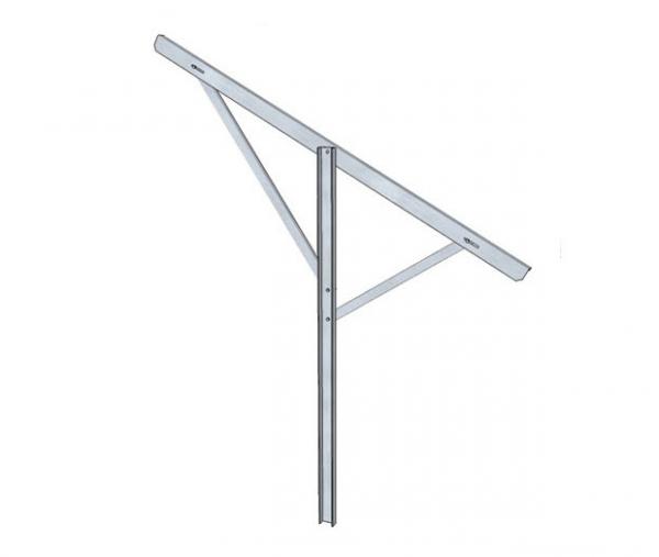 Podpora regulowana do konstrukcji wolnostojacej z dwoma ramionami