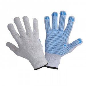 Rękawice ochronne dziane nakrapiane