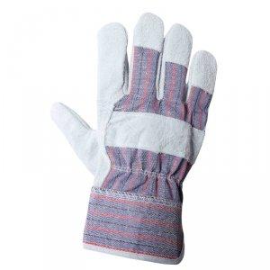 Rękawice robocze wzmacniane skórą bydlęcą