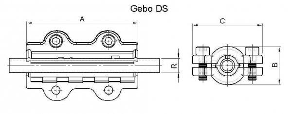 Obejma naprawcza DS długa DN32