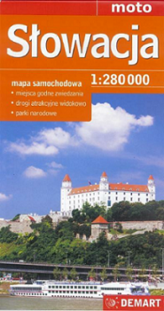 Słowacja 1:280 000 mapa samochodowa
