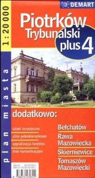 Piotrków Trybunalski +4. Plan miasta, 1:20 000