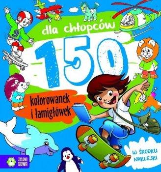 150 kolorowanek i łamigłówek dla chłopców