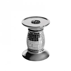 Świecznik dekoracyjny AURORA  9X9X12 Srebrny