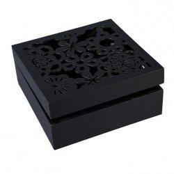 Pudełko DAISY 02 Czarne 20X20X8