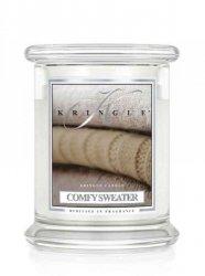 Kringle Candle - Comfy Sweater - średni, klasyczny słoik (411g) z 2 knotami