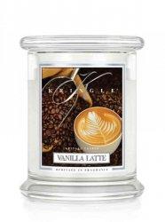 Kringle Candle - Vanilla Latte - średni, klasyczny słoik (411g) z 2 knotami