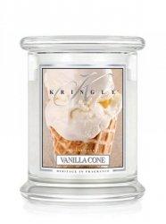 Kringle Candle - Vanilla Cone - średni, klasyczny słoik (454g) z 2 knotami