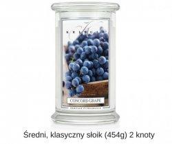 Kringle Candle - Concord Grape - średni, klasyczny słoik (411g) z 2 knotami