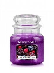 Country Candle - Wild Berry Balsamic -  Średni słoik (453g) 2 knoty
