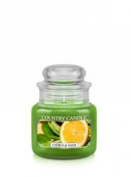 Country Candle - Citrus and Sage - Mały słoik (104g)