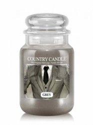 Country Candle - Grey - Duży słoik (652g) 2 knoty