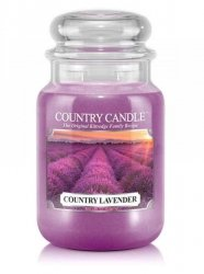 Country Candle - Country Lavender - Duży słoik (652g) 2 knoty