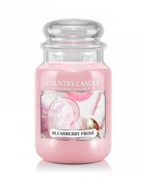 Country Candle - Blushberry Frose  - Duży słoik (652g) 2 knoty