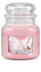 Country Candle - Blushberry Frose - Średni słoik (453g) 2 knoty