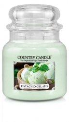 Country Candle - Pistachio Gelato - Średni słoik (453g) 2 knoty