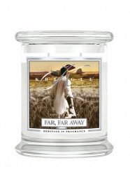 Kringle Candle - Far Far Away - średni, klasyczny słoik (411g) z 2 knotami