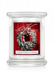 Kringle Candle - Christmas Stroll - średni, klasyczny słoik (411g) z 2 knotami