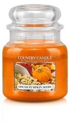 Country Candle - Spiced Pumpkin Seeds - Średni słoik (453g) 2 knoty