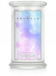 Kringle Candle - Watercolors - duży, klasyczny słoik (623g) z 2 knotami